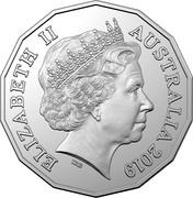 Australia 50 Cents The Pig 2019 UNC in Coincard ELIZABETH II AUSTRALIA 2019 IRB coin obverse