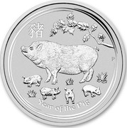 Australia 50 Cents Year of the Pig 2019 YEAR OF THE PIG coin reverse