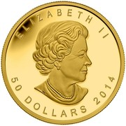 Canada 50 Dollars Blessings 2014 Proof KM# 1729 ELIZABETH II 50 DOLLARS 2014 coin obverse