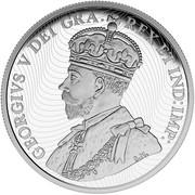 Canada 50 Dollars In Flanders Fields 2015 Proof GEORGIVS V DEI GRA: REX ET IND:IMP: coin obverse
