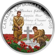 Canada 50 Dollars In Flanders Fields 2015 Proof CANADA 50 DOLLARS 1915-2015 coin reverse