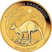 Australia 50 Dollars Kangaroo 2019 AUSTRALIAN KANGAROO 2019 1/2 OZ 9999 GOLD P AH coin reverse