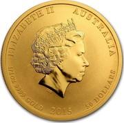 Australia 50 Dollars Year of the Goat (Colored) 2015 P ELIZABETH II AUSTRALIA 1/2 OZ 9999 GOLD 2015 50 DOLLARS IRB coin obverse