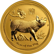 Australia 50 Dollars Year of the Pig 2019 YEAR OF THE PIG P coin reverse