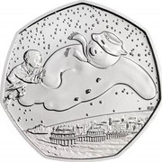 UK 50 Pence 40th Anniversary of The Snowman 2018 BU  coin reverse