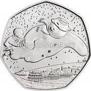 UK 50 Pence (40th Anniversary of The Snowman)  coin reverse