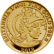 UK 50 Pence Britannia 2018 BU BRITANNIA 1/40 OZ FINE GOLD 999.9 2018 coin reverse