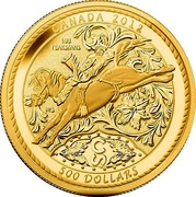 Canada 500 Dollars 100 Years of the Calgary Stampede 2012 Proof CANADA 2012 100 YEARS/ANS 500 DOLLARS MC coin reverse