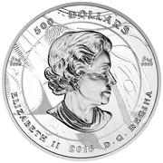 Canada 500 Dollars Argillite Chest 2016 Proof 500 DOLLARS 5 KG 9999 5 KG 9999 ELIZABETH II 2016 D ∙ G ∙ REGINA coin obverse