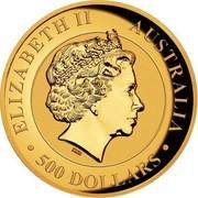 Australia 500 Dollars Australian Wedge-Tailed Eagle 2017 High Relief Proof KM# 2213 ELIZABETH II AUSTRALIA • 500 DOLLARS • IRB coin obverse