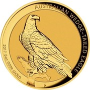 Australia 500 Dollars Australian Wedge-Tailed Eagle 2017 High Relief Proof KM# 2213 AUSTRALIAN WEDGE-TAILED EAGLE *YEAR* 5 OZ 9999 GOLD P JM coin reverse