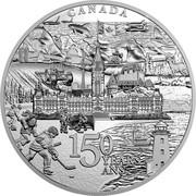 Canada 500 Dollars Canada 150 From Coast to Coast to Coast 2017 Proof CANADA 150 YEARS ANS SH coin reverse
