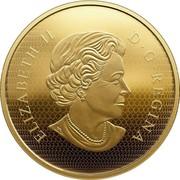Canada 500 Dollars Maple Leaves 2017 Prooof ELIZABETH II D • G • REGINA SB coin obverse