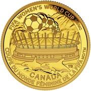 Canada 75 Dollars FIFA Women's World Cup Canada 2015 Proof FIFA WOMEN'S WORLD CUP TM/MC CANADA TB COUPE DU MONDE FEMININE DE LA FIFA TM/MC coin reverse