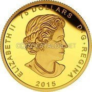 Canada 75 Dollars The Allied Gold 2015 Proof ELIZABETH II 75 DOLLARS D • G • REGINA 2015 coin obverse