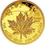 Canada 75 Dollars The Allied Gold 2015 Proof CANADA 75 YEARS ANS THE ALLIED GOLD L'OR DES ALLES JK coin reverse