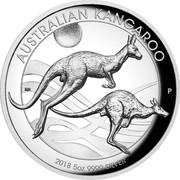 Australia 8 Dollars Australian Kangaroo 2018 P High Relief Proof AUSTRALIAN KANGAROO 2018 5OZ 9999 SILVER P coin reverse