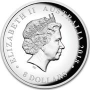 Australia 8 Dollars Silver Swan 2018 ELIZABETH II AUSTRALIA 2018 • 8 DOLLARS • IRB coin obverse