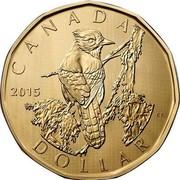 Canada Dollar Blue Jay 2015 KM# 1840 CANADA ES DOLLAR coin reverse