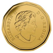Canada Dollar Elizabeth II Wedding 2015 KM# 1847 ELIZABETH II D • G • REGINA coin obverse