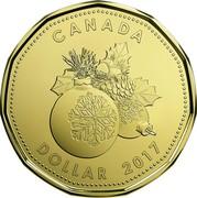 Canada Dollar Holiday 2017 CANADA DOLLAR 2017 coin reverse