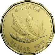 Canada Dollar O Canada Gift 2017 CANADA DOLLAR 2017 coin reverse