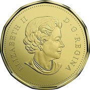 Canada Dollar Wedding Gift 2017 ELIZABETH II D • G • REGINA SB coin obverse