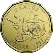 Canada Dollar Wedding Gift 2017 CANADA DOLLAR 2017 coin reverse