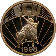 UK ECU Great Britain 1998 ECU 1998 coin reverse