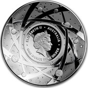 Australia Five Dollars Domed Earth and Beyond - The Moon 2019 ELIZABETH II AUSTRALIA ONE OUNCE FINE SILVER coin obverse