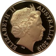 Australia Five Dollars Year of the Pig 2019 Proof ELIZABETH II AUSTRALIA 2019 IRB coin obverse