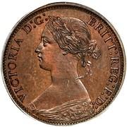 Canada Half cent (Victoria) KM# 5 VICTORIA D:G: BRITT: REG: F:D: coin obverse