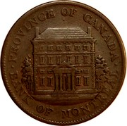 Canada Half Penny Bouquet Sous 1844 KM# Tn18 PROVINCE OF CANADA ∙ BANK OF MONTREAL ∙ coin obverse