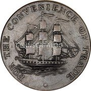Canada Half Penny Token (Convenience of Trade) FOR THE CONVENIENCE OF TRADE * coin reverse