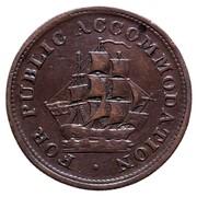 Canada Half Penny Token For Public Accommodation 1830 Public Accommodation FOR PUBLIC ACCOMMODATION coin obverse