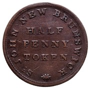 Canada Half Penny Token For Public Accommodation 1830 Public Accommodation ST JOHN NEW BRUNSWICK HALF PENNY TOKEN coin reverse