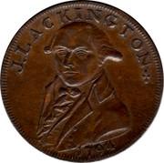 UK Halfpenny (Middlesex - Lackington's) J.L.ACKINGTON 1794 coin obverse