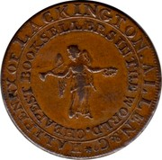 UK Halfpenny (Middlesex - Lackington's) HALFPENNY OF LACKINGTON . ALLEN & CO. CHEAPEST BOOKSELLERS IN THE WORLD. coin reverse