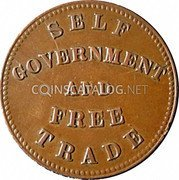Canada Halfpenny (Prince Edward's Island - Self government and free trade) SELF  GOVERNMENT  AND FREE TRADE coin reverse