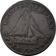 Canada Halfpenny (Sloop Token - Commercial Change Hunter) HALFPENNY TOKEN UPPER CANADA coin obverse