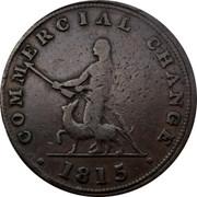Canada Halfpenny (Sloop Token - Commercial Change Hunter) COMMERCIAL CHANGE 1815 coin reverse