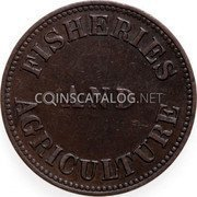 Canada One Cent Fisheries and Agriculture 1855 FISHERIES AND AGRICULTURE coin obverse