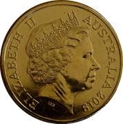 Australia One Dollar (50th Anniversary Moon Landing) ELIZABETH II AUSTRALIA 2019 IRB coin obverse
