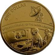 Australia One Dollar (50th Anniversary Moon Landing) ONE DOLLAR A B 50TH ANNIVERSARY OF THE MOON LANDING coin reverse