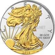 USA One Dollar Gilded Liberty 2018 LIBERTY IN GOD WE TRUST 2018 coin obverse