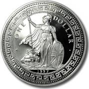 UK One Dollar Hong Kong Returns to China 1997 • ONE DOLLAR • 1997 coin obverse