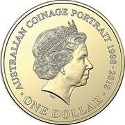 Australia One Dollar The Sixth Effigy 2019 UNC in Coincard AUSTRALIAN COINAGE PORTRAIT 1998 - 2019 IRB ONE DOLLAR coin reverse