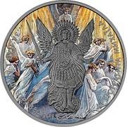 Ukraine One Hryvnia Archangel Michael - Paradise 2015 lily BU ЗА НАС І ДУШІ ПРАВЕДНИХ І СИЛА АРХЕСТРАТИГА МИХАІЛА coin reverse