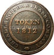 UK One Penny (Staffordshire - Cheadle Copper & Brass Co) CHEADLE COPPER & BRASS COMPANY TOKEN 1812 coin obverse