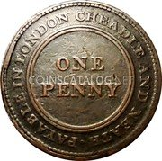 UK One Penny (Staffordshire - Cheadle Copper & Brass Co) PAYABLE IN LONDON CHEADLE AND NEATH · ONE PENNY coin reverse